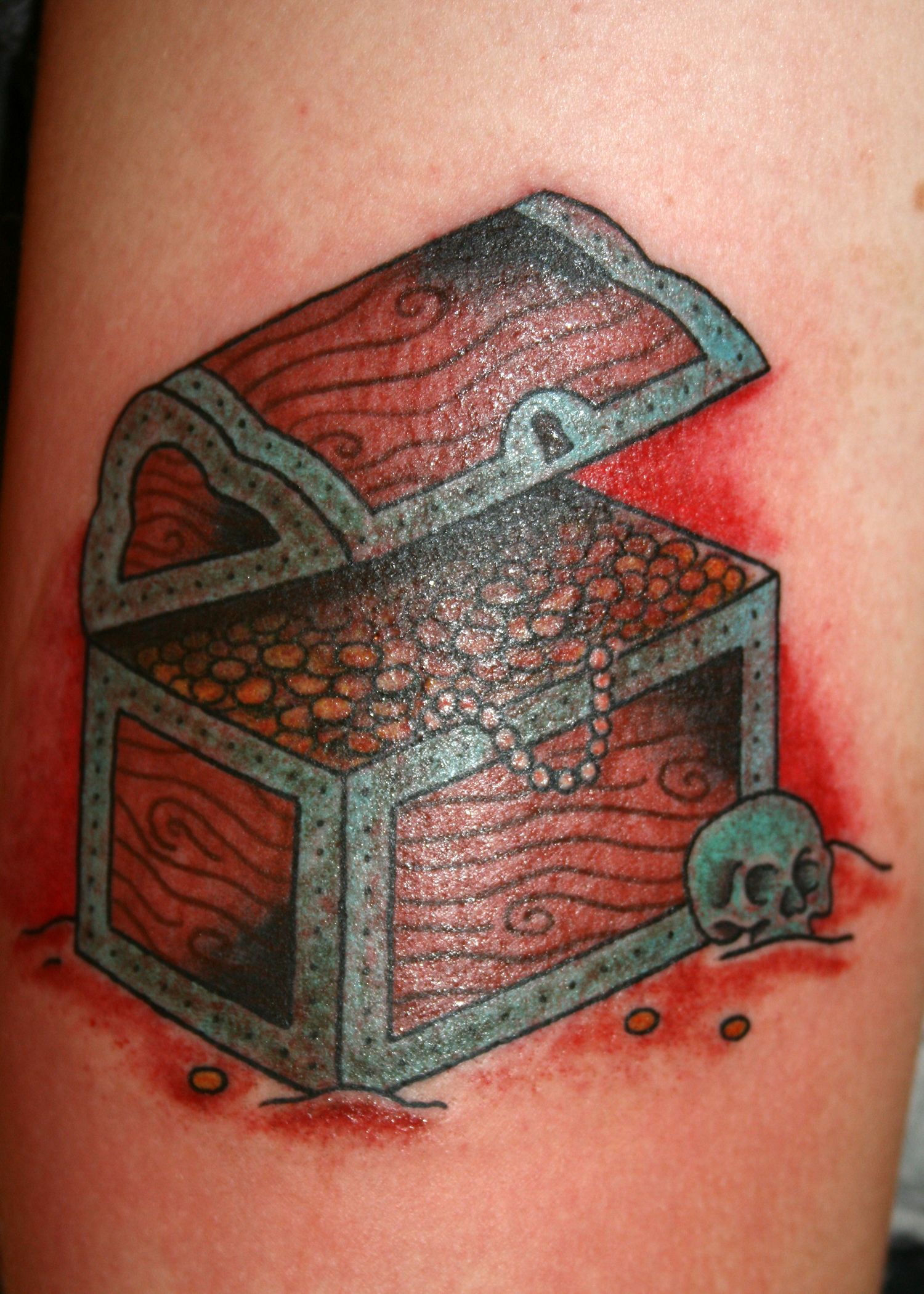 Treasure Chest Tattoo Want Something Like This Added To My Mermaid with regard to proportions 1500 X 2100