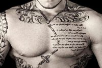 Upper Chest Tattoo Gths inside dimensions 1024 X 780