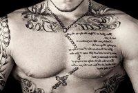 Upper Chest Tattoo Gths inside dimensions 1024 X 780