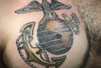 Usmc Chest Tattoo Gold Metal Looking Usmc Tattoo Sneak Peeks for proportions 1080 X 1080