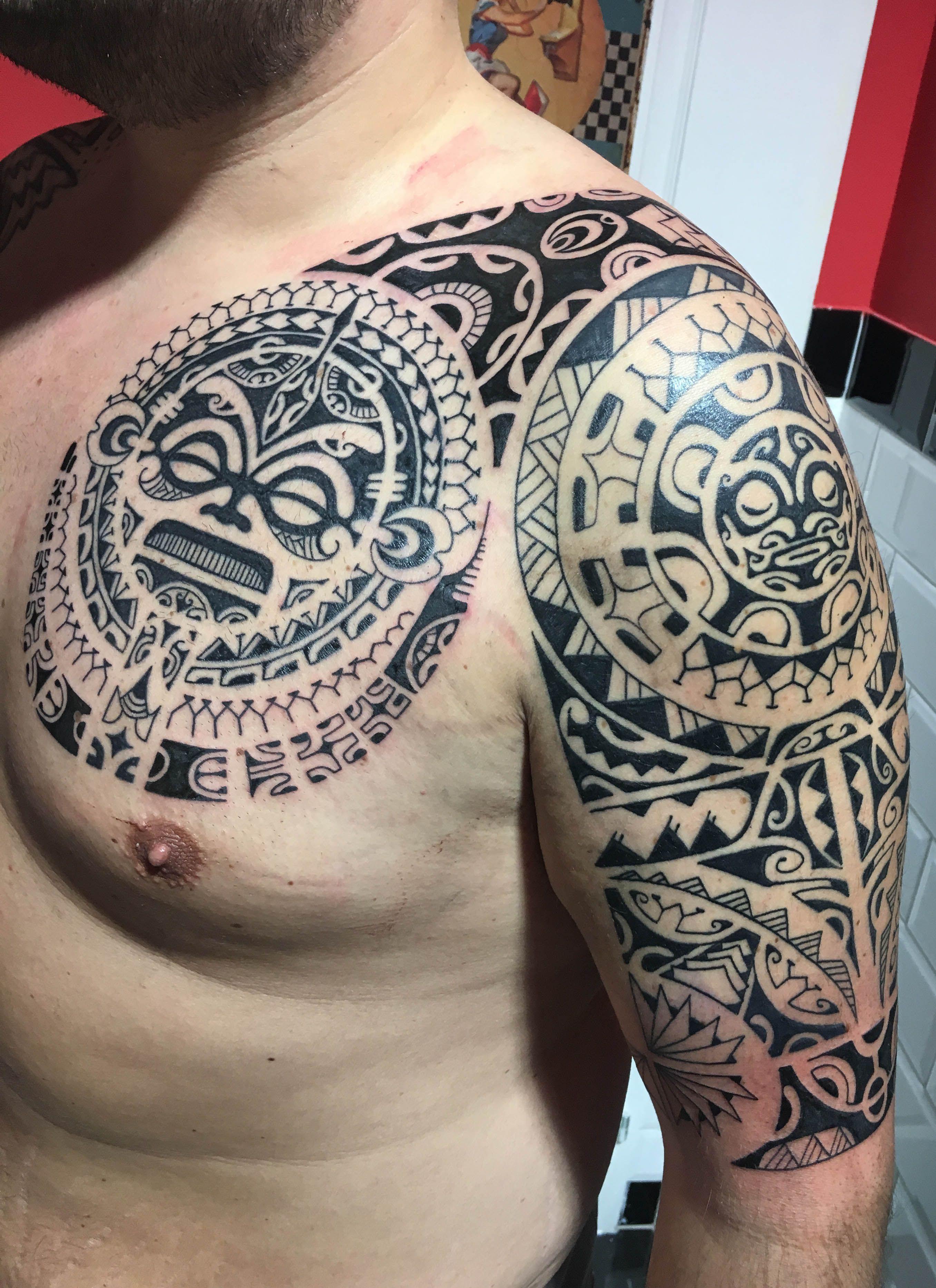 Westendtattoowien Tattoo Maori Tattoo Polynesian Tattoo Arm intended for measurements 2712 X 3732