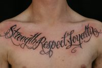 Words Tattoos On Chest Feed My Addiction Loyalty Tattoo Chest pertaining to dimensions 1803 X 1081
